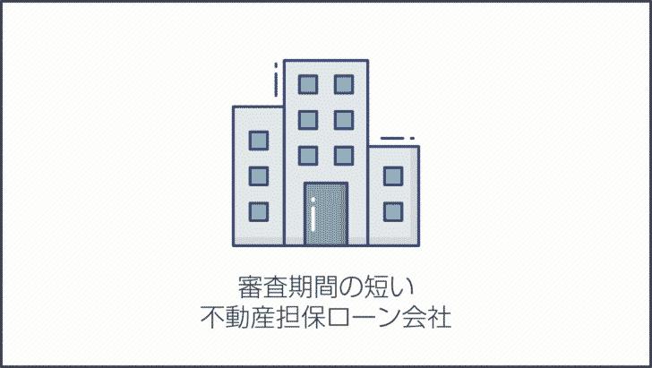 審査期間の短い不動産担保ローン会社